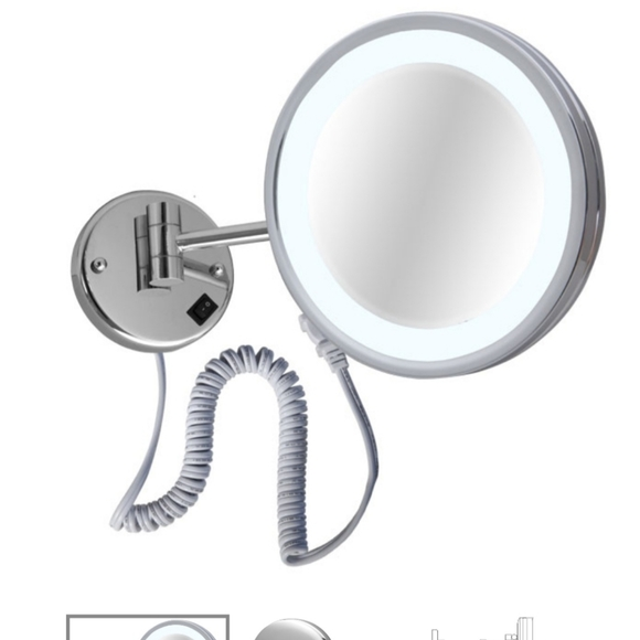 Laloo Accessories Other - 5x Magnification Mirror lighted Plug in Br Nick